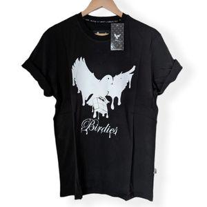 NWT Birdies Black Graphic Crew Neck T-shirt